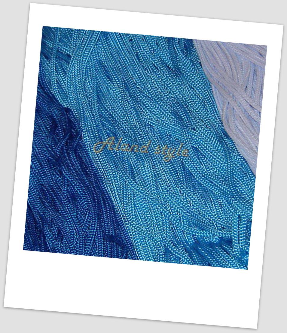 Шнуры для макраме синих оттенков