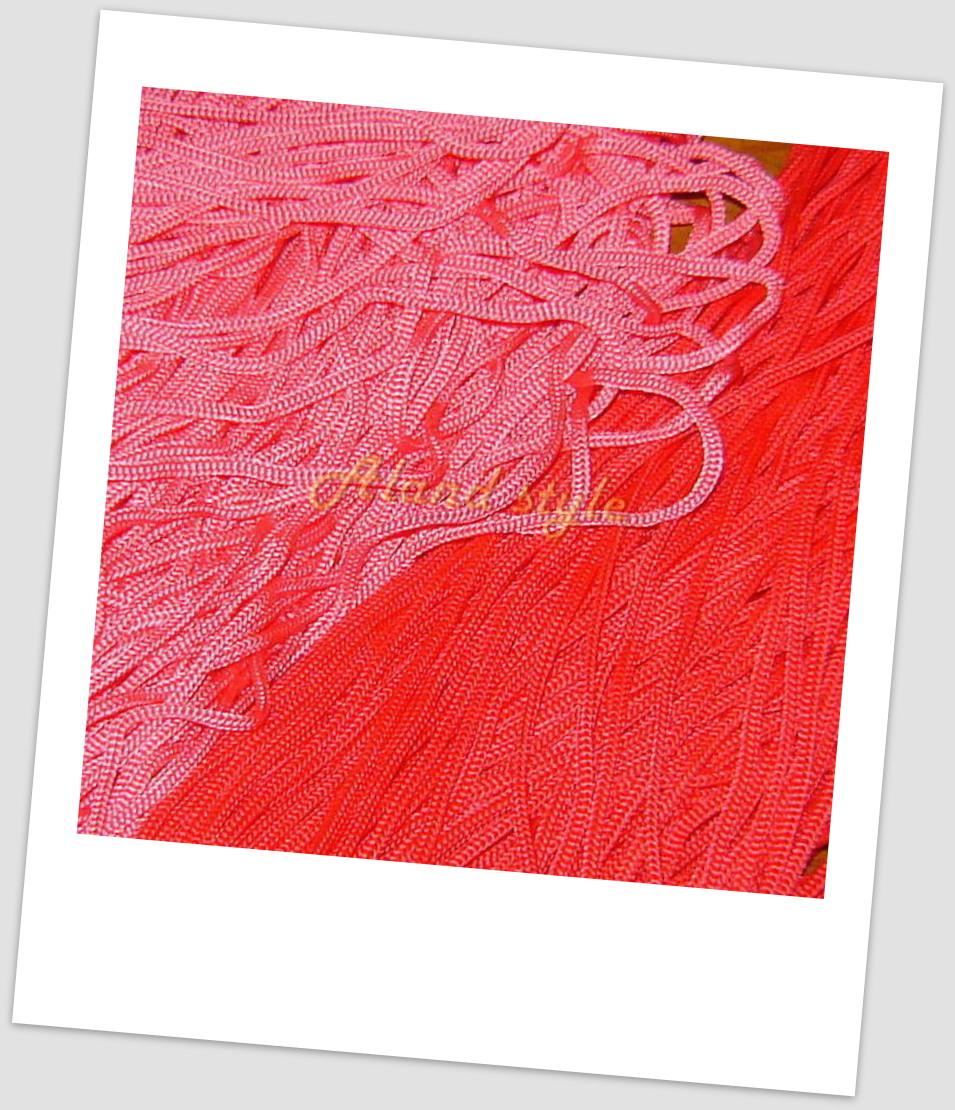 Шнуры для макраме: красный, розовый